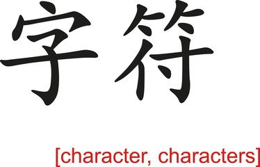 Chinese Sign for character, characters