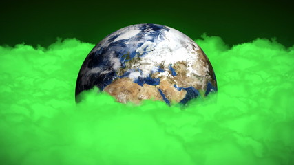Earth Clouds Pollution Concept