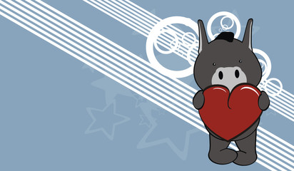 donkey cute baby valentine cartoon background