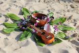 Hawaiian theme arrangement on a beach