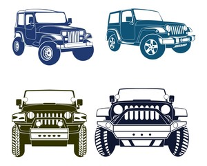 Four Jeep Silhouettes