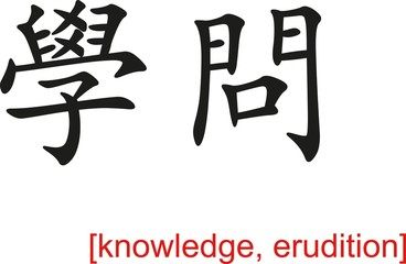 Chinese Sign for knowledge, erudition