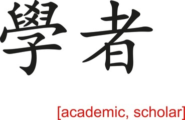 Chinese Sign for academic, scholar