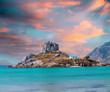 Obrazy na płótnie, fototapety, zdjęcia, fotoobrazy drukowane : View on small island of Kastri near Kefalos town, Kos island (Gr