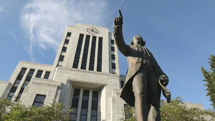 Captain Vancouver Statue, City Hall