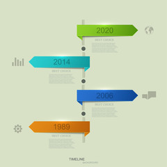 vector timeline infographic element design