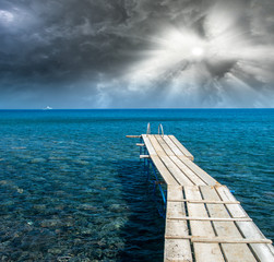 Wooden Jetty over the ocean