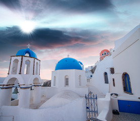 Beautiful homes of Oia, Santorini