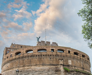 Rome. Castle of Holy Angel over the Tiber River
