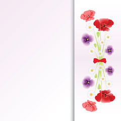 bouquet of flowers on colorful background.