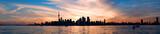 Toronto skyline panorama at sunset