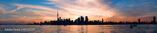 Plexiglas Canada Toronto skyline panorama at sunset