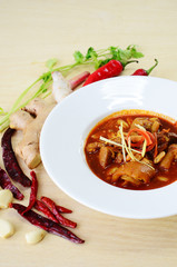 "Thai pork curry ""Kaeng Hung Ley"""