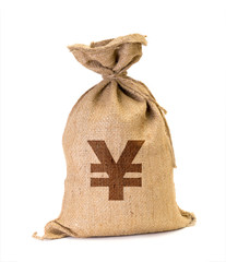 moneybag with yen
