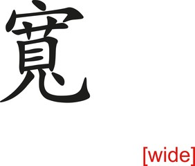 Chinese Sign for wide