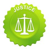 justice sur bouton web denté vert