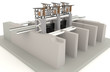 3D water gate design model