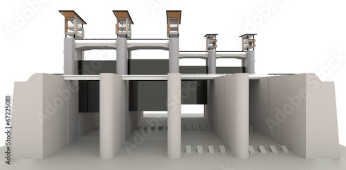 3D water gate design model - 67225081