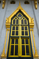 Windows of Wat Luang Po Sothon Chapel in Chachoengsao, Temple