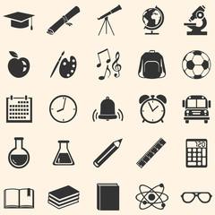 Vector Set of 25  School Icons.