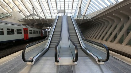 Escalators in Liege central railway station