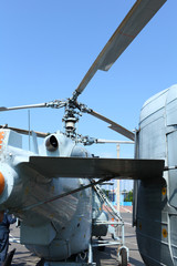 Two helical military helicopter Kamov