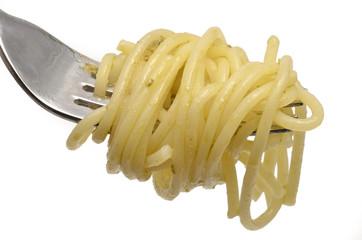 Spaghetti auf einer Gabel
