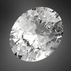 3d Sparkling Oval Diamond