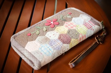 handmade of fabric purse