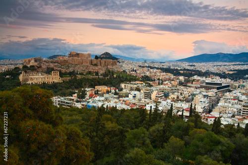 Staande foto Athene Acropolis as seen from Filopappou Hill, Athens.