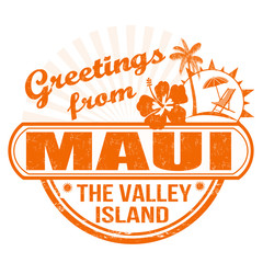 Greetings from Maui stamp