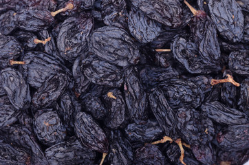 Background of dark raisins