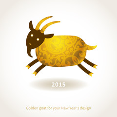 Illustration of 2015 year of the goat.