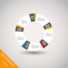 colorful infographic ring with five options