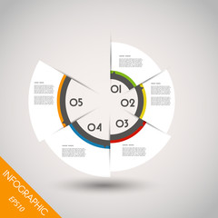 colorful infographic ring with elements