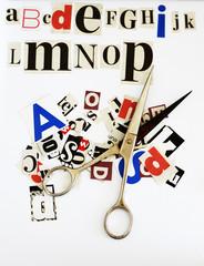 news letters alphabet concept