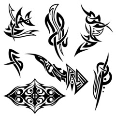Tribal und Tattoo Vektor Set