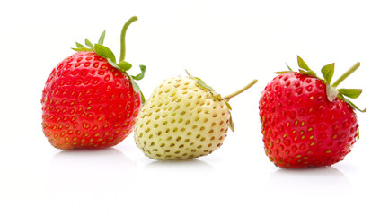 Strawberries in row