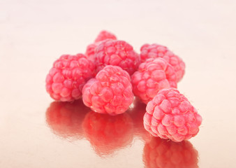 Litlle handful of raspberries