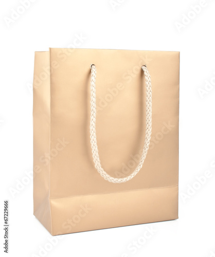 Beige package isolated