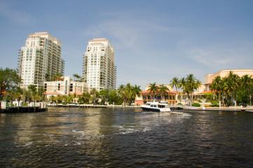 Fort Lauderdale, Kanal, Fluss, Wohngegend, Wohnsiedlung,