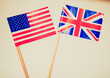 Retro look British and American flags