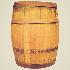 Retro look Wine or beer barrel cask