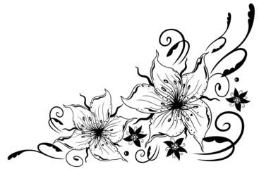 Lilien, Blumen, Ranke