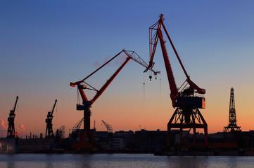Kväll i hamnen