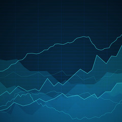 Vector Illustration of an Abstract Background with Graphs