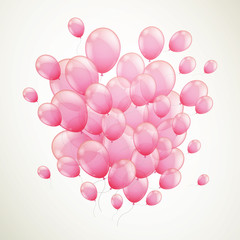 Vector Illustration of Flying Balloons