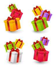 Set of Birthday gift boxes