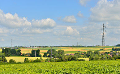 landscape of Walloon, Ronquieres, Belgium