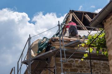 Travaux de rénovation toiture